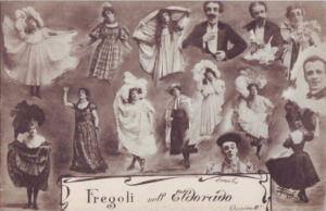 Alcuni dei suoi personaggi in cartolina