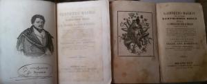 Prima e seconda edizione del Gabinetto Magico 1853 e 1855. Collezione privata Leonardo Carrassi