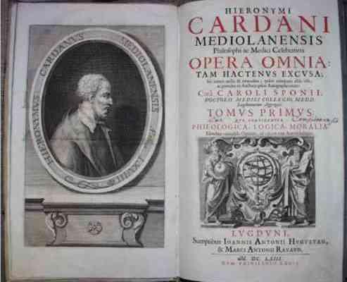 Il De Ludo Aleae di Girolamo Cardano, Medico, Matematico, e baro prestigiatore