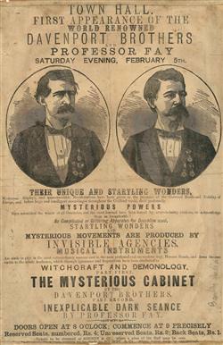 I fratelli Davenport, tra magia e spiritismo