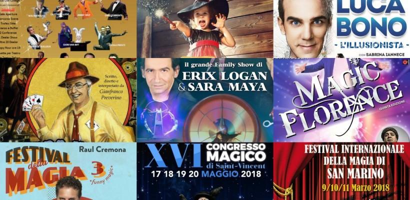Spettacoli di Magia 2018, Eventi Magici, Congressi e Convention