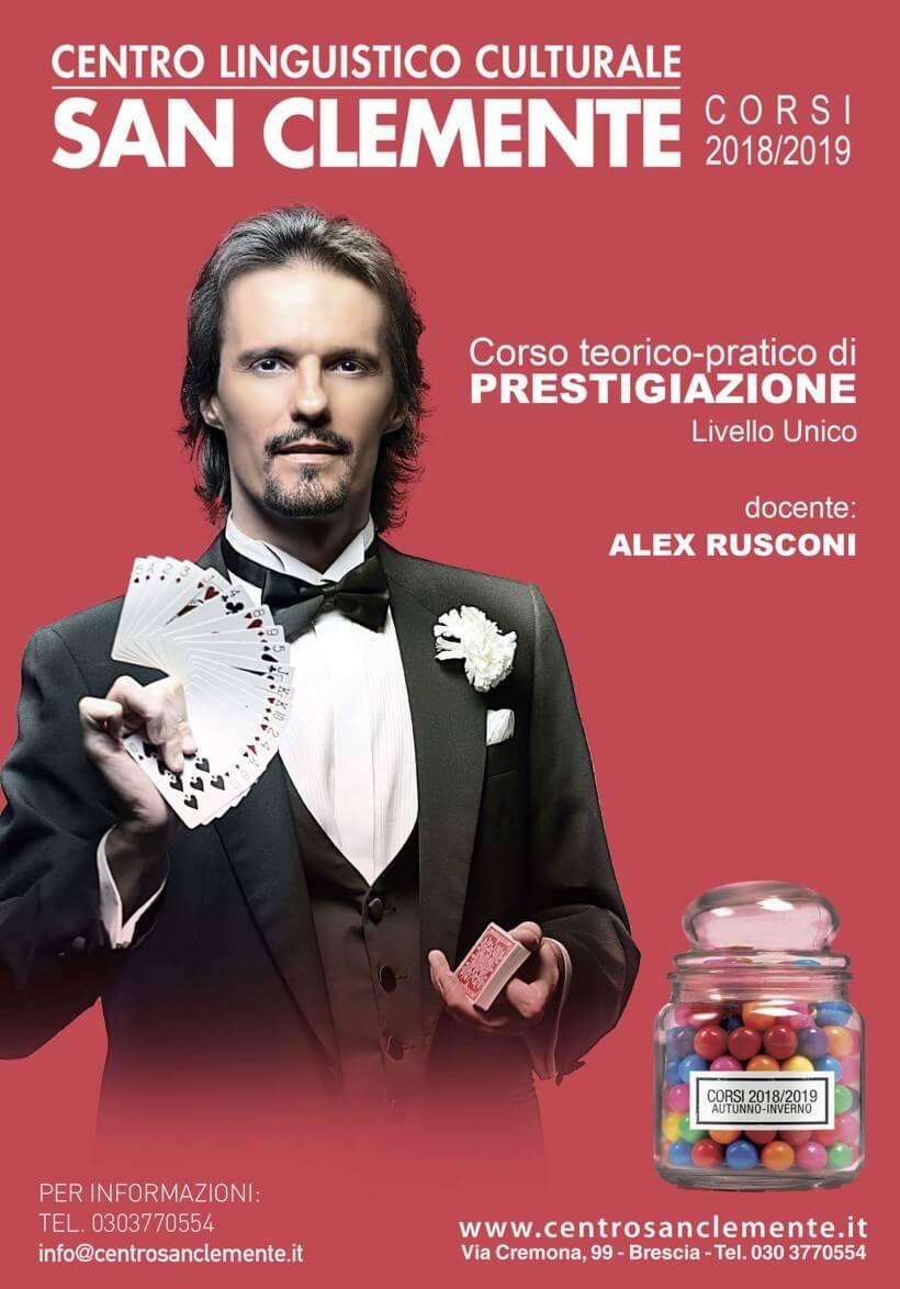 Corso di Magia a Brescia, la prestigiazione di Alex Rusconi