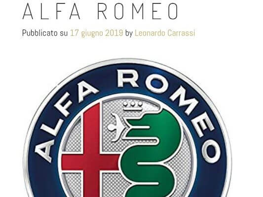 Dopo Skoda, Ford, Bmw, la magia di Leonardo per l'evento Alfa Romeo