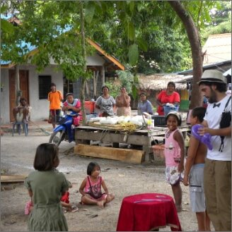 Mago Leo in unisola di Kuna Yala scuola elementare